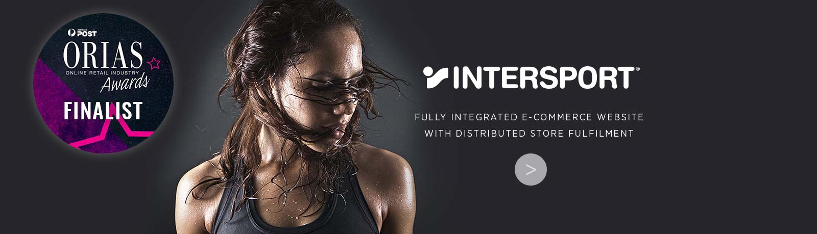 Intersport Fully Integrated eCommerce website with distributed store fulfilment. Nominated for ORIA award for best in-store initiative stockinstore