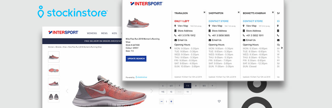Now Solutions Digital Agency Intersport Australia. Fully Responsive E-Commerce website. with stockinstore the find in store solution increasing sales in store and online
